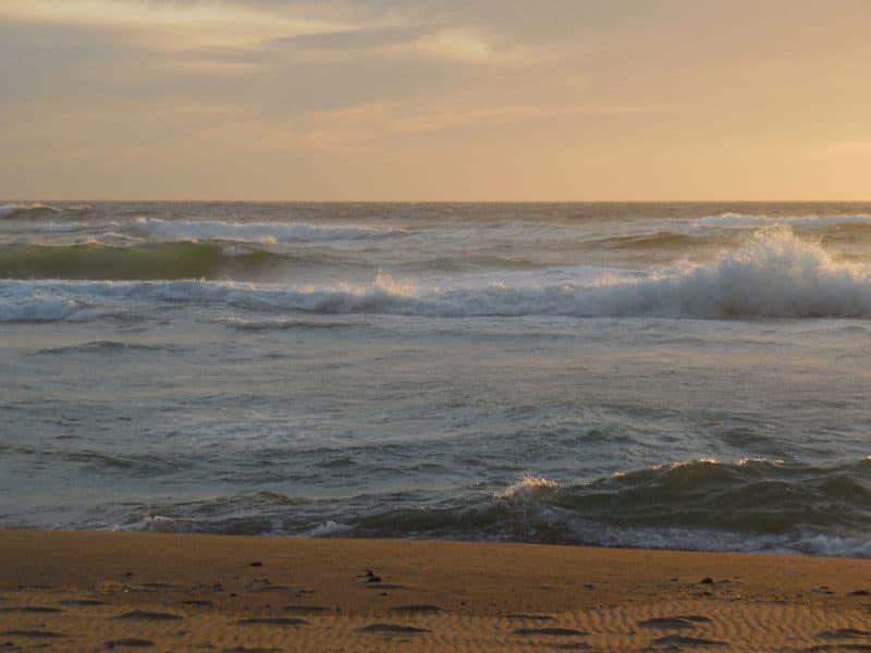 ruige dag op de stille oceaan